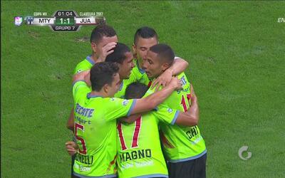Josué Gómez marca para Juárez FC y empata el juego con Monterrey