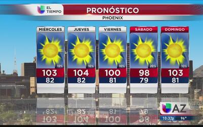 Continuarán las lluvias en Arizona