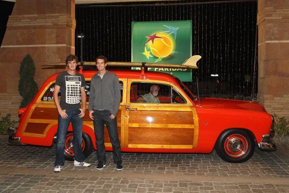 Los hermanos Murray: Jamie (izq) y Andy.