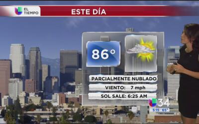 Los Ángeles tendrá un día parcialmente nublado