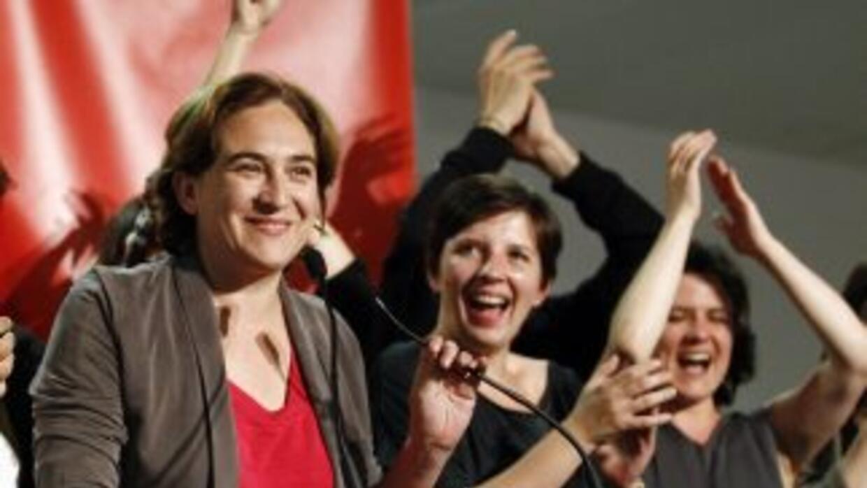 Ada Colau, candidata de una coalición ciudadana de izquierdas a la alcal...