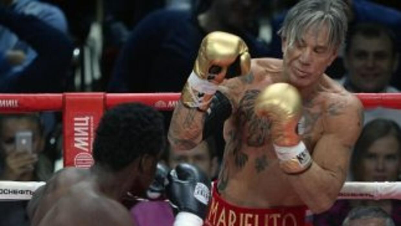 La pelea de Mickey Rourke fue arreglada.