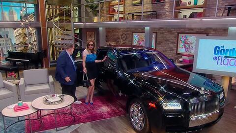 Lili Estefan llegó en tremendo Rolls-Royce al show ¿será el de Luis Miguel?