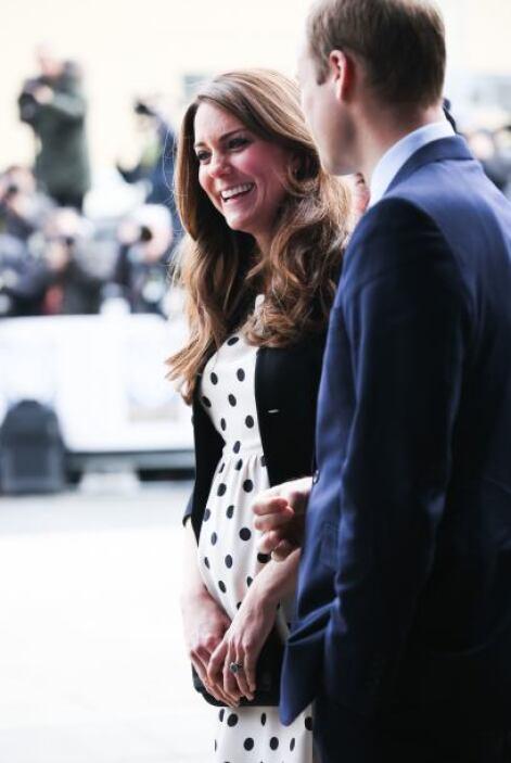 Y se nota que lo está disfrutando, ¡porque Kate se ve radiante!