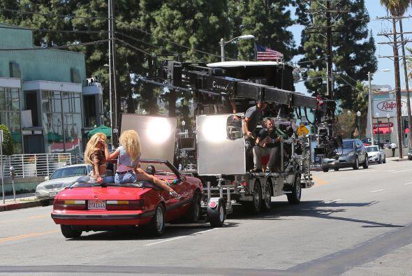 El video fue grabado en las calles de Los Ángeles.