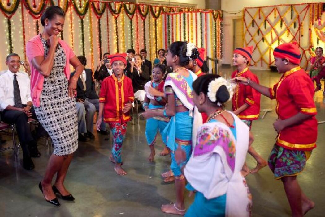 Michelle Obama disfrutó la danza y aprendió los pasos muy rápido ante la...