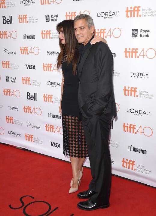 George Clooney en conferencia en Toronto.
