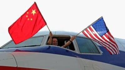 AA inauguró el primer vuelo al corazón financiero de China.