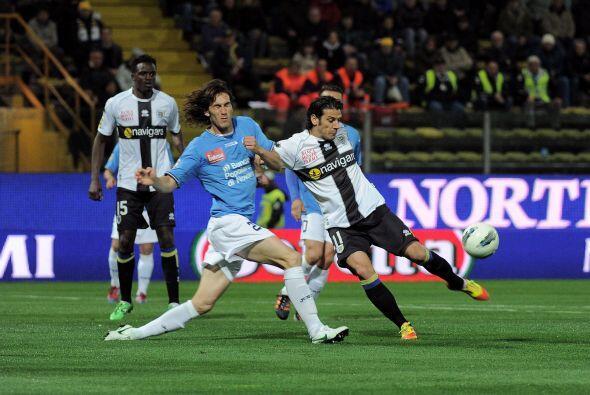 El Parma fue local en el partido ante el Novara.