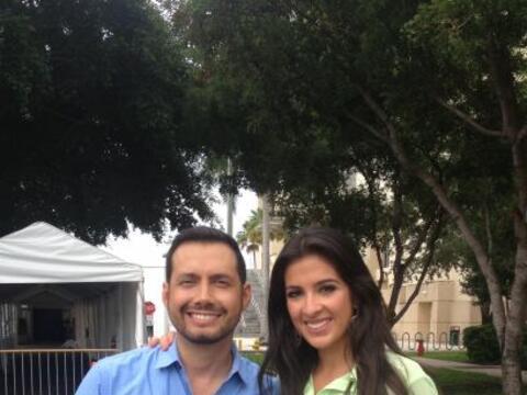 ¡Qué calor hace en Miami! Pero Maity Interiano y Luis Sando...