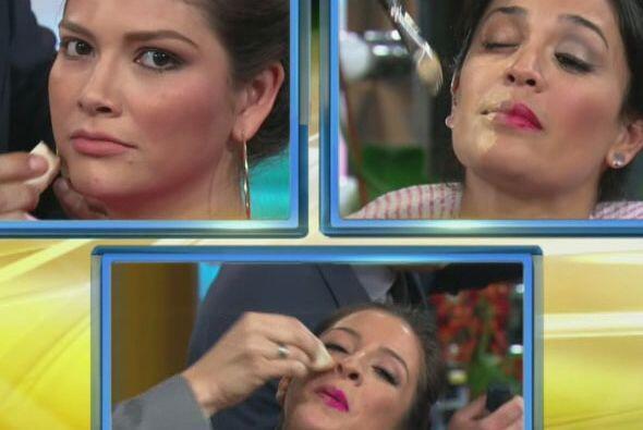 Con un poco de miedo, Ana, Karla y Maity se pusieron en manos de sus com...