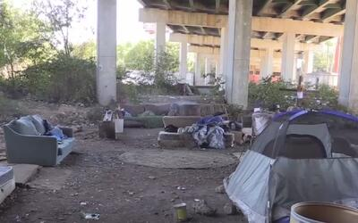 Personas que vivían debajo del puente Queen City fueron desalojadas