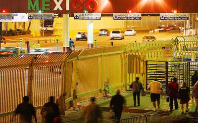 The border crossing at Tijuana