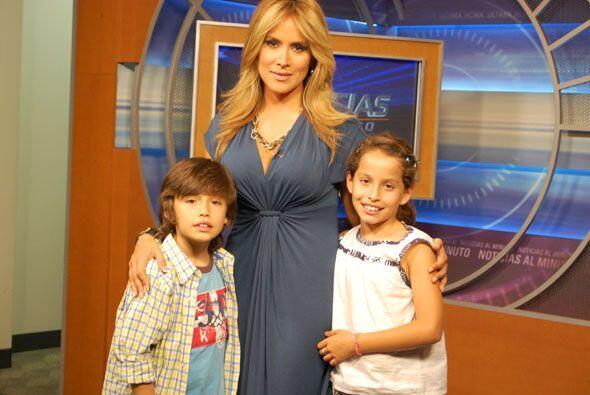 Valeria y Nicolás son los pequeños retoños de Adria...