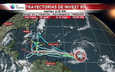 El Servicio Nacional de Meteorología informó que la onda t...