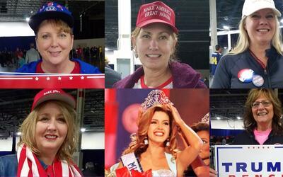 Muejeres que votarán por Trump