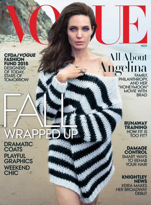 Angelina Jolie está en el nuevo número de Vogue.