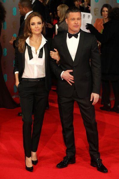 Sin duda los grandes protagonistas de la noche fueron Angelina Jolie y B...