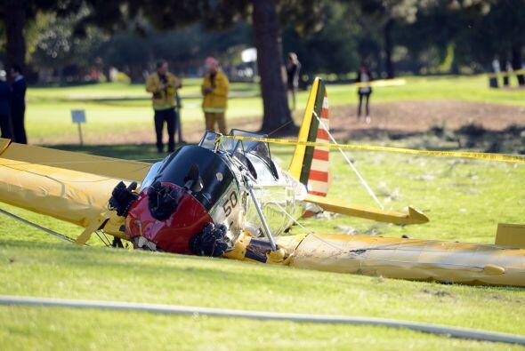 Un par de horas después del accidente, el hijo del actor, Ben For...