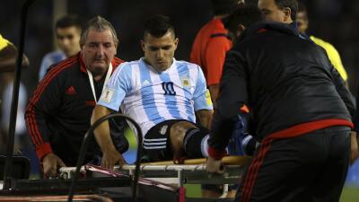 Sergio Agüero es uno de los lesionados.