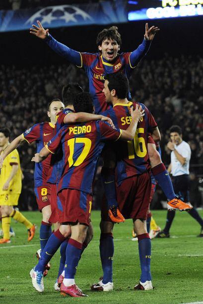 Fulminante resultado, pues ya no hubo más goles, y Messi, junto a sus co...