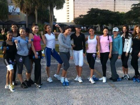 Este es el grupo de chicas de NBL que está entrenando con Jos&eac...