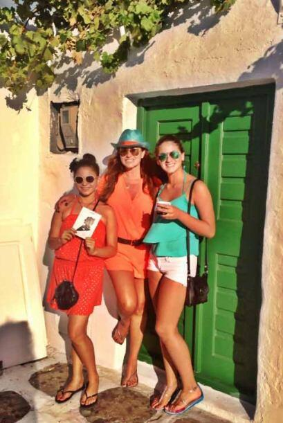 Paola Gutiérrez viajó con su esposo Fernán Martínez y sus hijas Antonell...