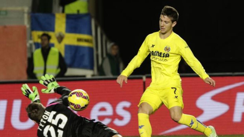 Luciano Vietto anotó el gol del triunfo para el Villarreal.