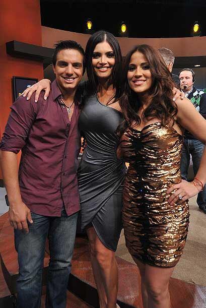Vadir Derbez, Chiquinquira Delgado y Jacky Garrido listos para bailar.