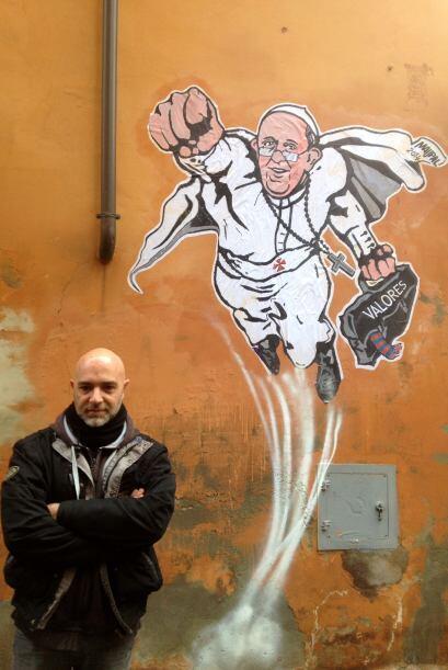 """""""Para mí este Papa es un superhéroe, como los superh&..."""