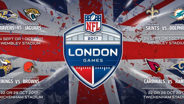 NFL dio a conocer qué equipos jugarán en Londres en 2017