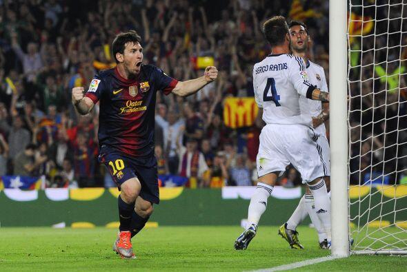'La Pulga' también sumaba goles para su cuenta personal en la Liga, y an...