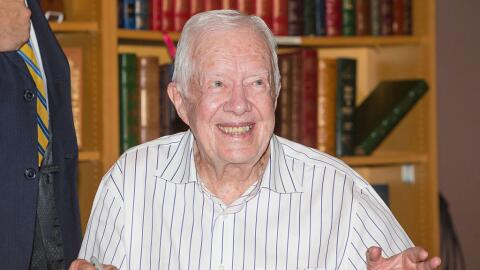 El expresidente Jimmy Carter en un acto en el estado de Washington, 2015.