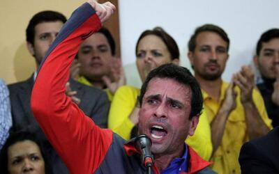 Venezuelan opposition leader and Governor of Miranda state Henrique Capr...
