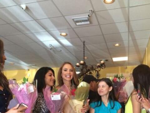 Mira lo bien que la pasó Ximena Córdoba durante el almuerz...