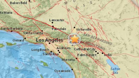 Terremoto de magnitud 3.2 en San Bernardino, California.
