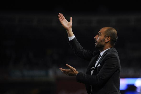 'Pep' Guardiola no paró de dar indicaciones pero las cosas no salieron.