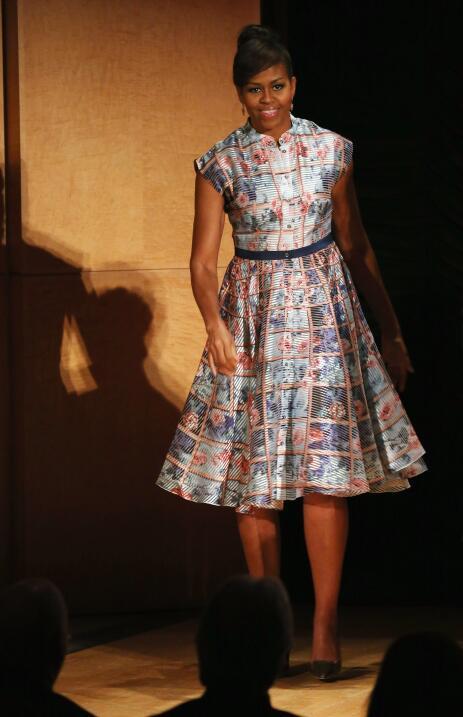 Michelle Obama y su optimismo hecho vestido   GettyImages-474124544.jpg