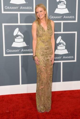 Nicole Kidman fue una de las más clásicas de la noche. Ya comenzaba a gu...