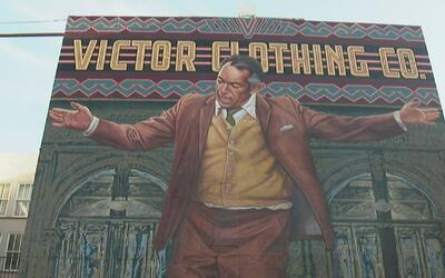 Celebran restauración del mural de Anthony Quinn en el centro de Los Áng...