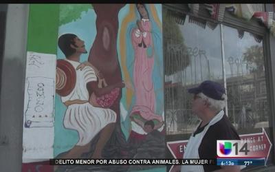 Vandalizan mural de La Guadalupana en SF