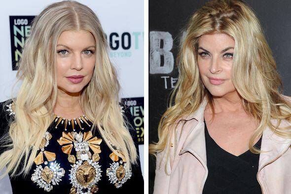 Kirstie Alley podría ser la madre de Fergie... bueno, no le lleva...