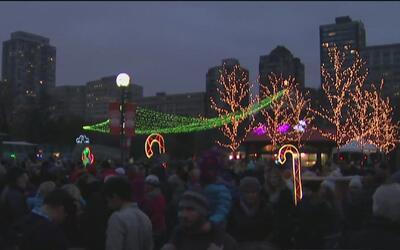Unas 2 millones de luces se encendieron en el Zoológico Lincoln Park