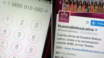 Así se vota en Nuestra Belleza Latina 2015.