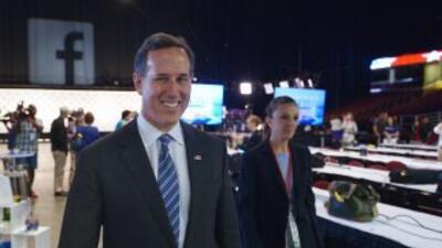 Rick Santorum, uno de los participantes en el debate de las 5PM