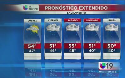 Sacramento continuará con precipitaciones