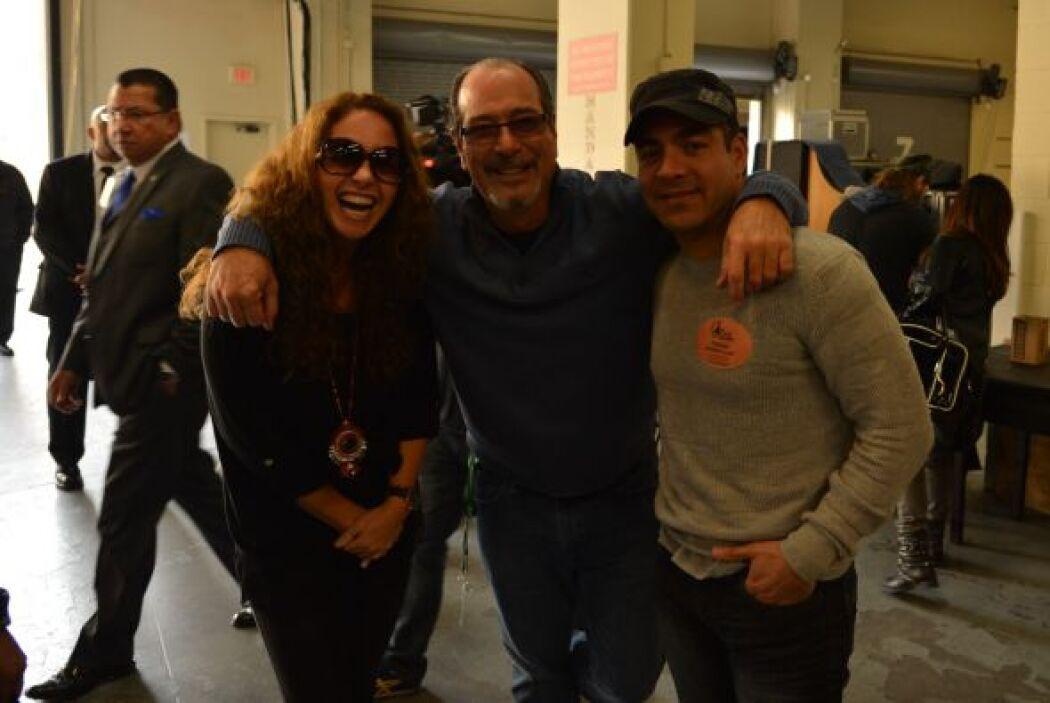 Lucero ya llegó a los ensayos y se encontró con el productor del show Ci...