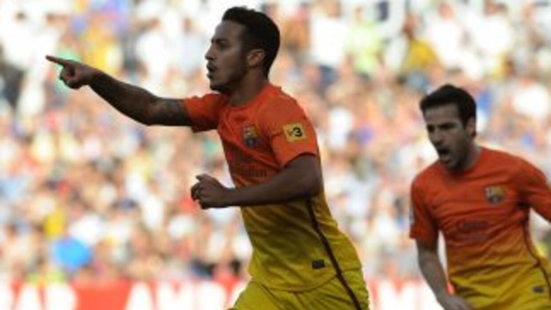 Thiago hizo el primer gol del partido, antes de que apareciera Tello par...