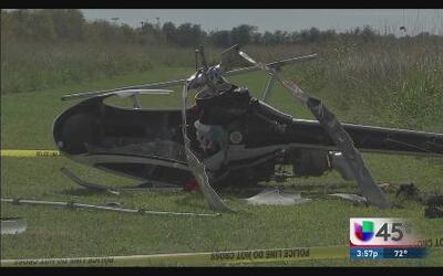 Aparatoso accidente de helicóptero en Brazoria