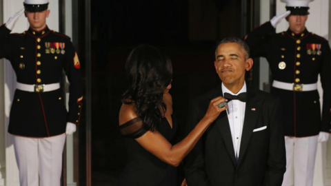 Barack y Michelle Obama invitaron a sus amigos cercanos, donantes y cele...